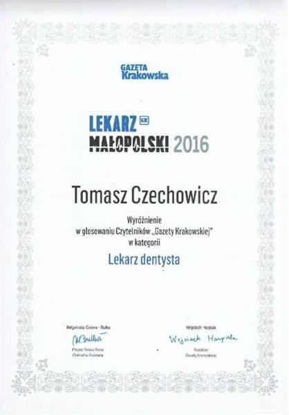 Wyróżnienie Tomasza Czechowicza