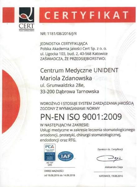 PN-EN ISO 9001:2009